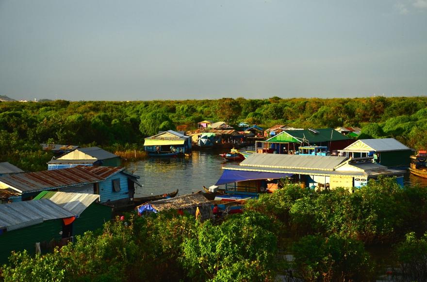 floating village tonle sap lake