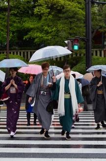 Japanese kimono gang