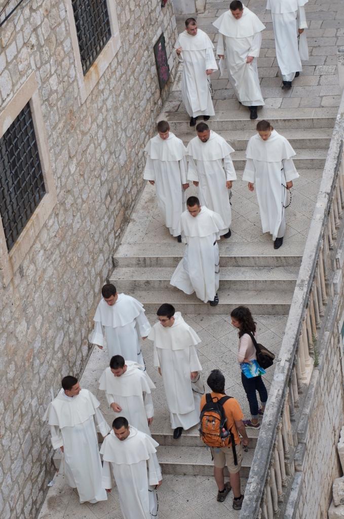 men in white dubrovnik