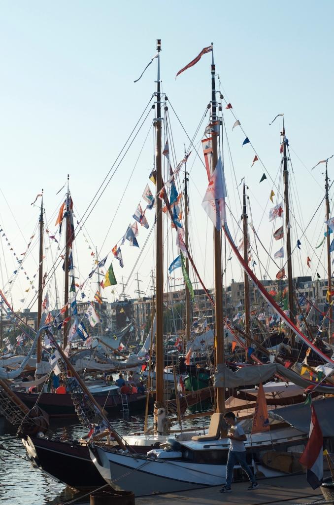 Dusk of IJ haven, Sail2015