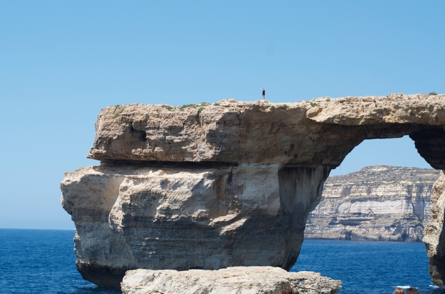 Natural arch on Gozo, Malta