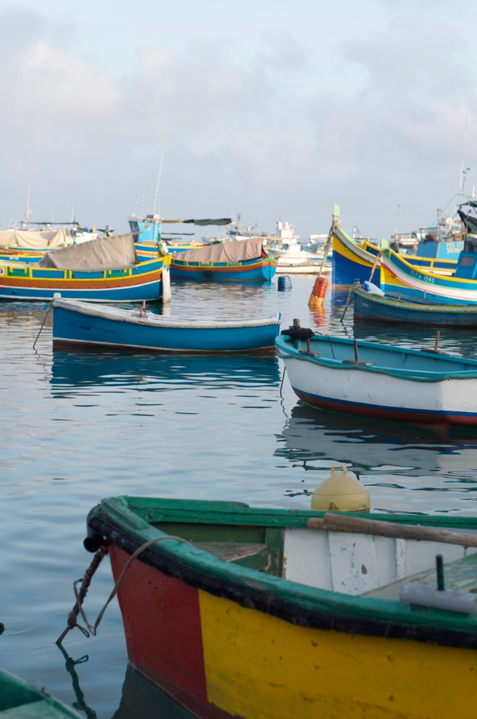 Colorful fisher boats in Marsaxlokk