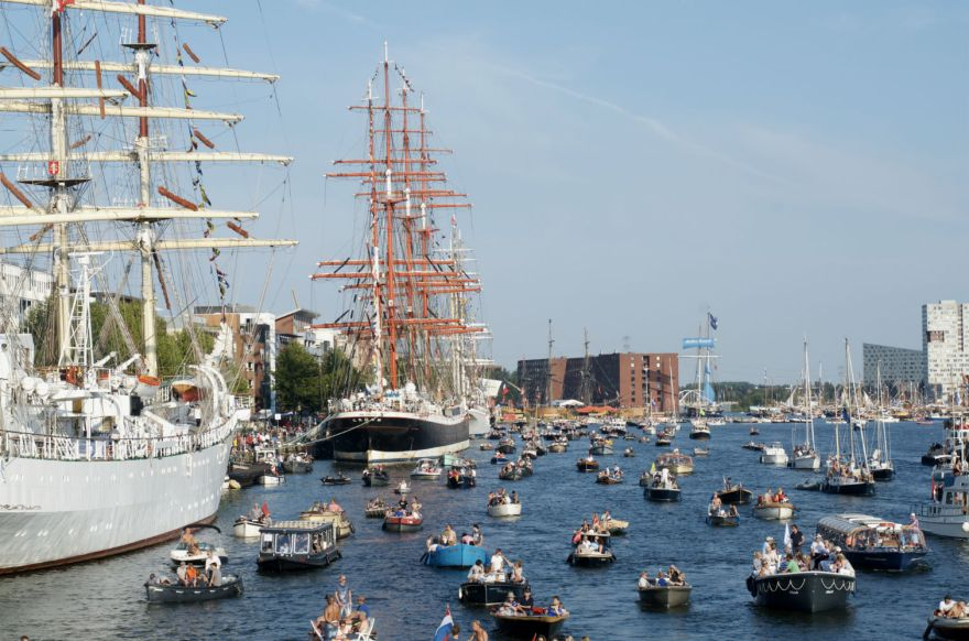 A day on water, Amsterdam, Sail2015