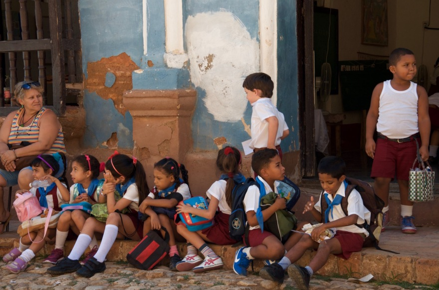 cuban pupils at school