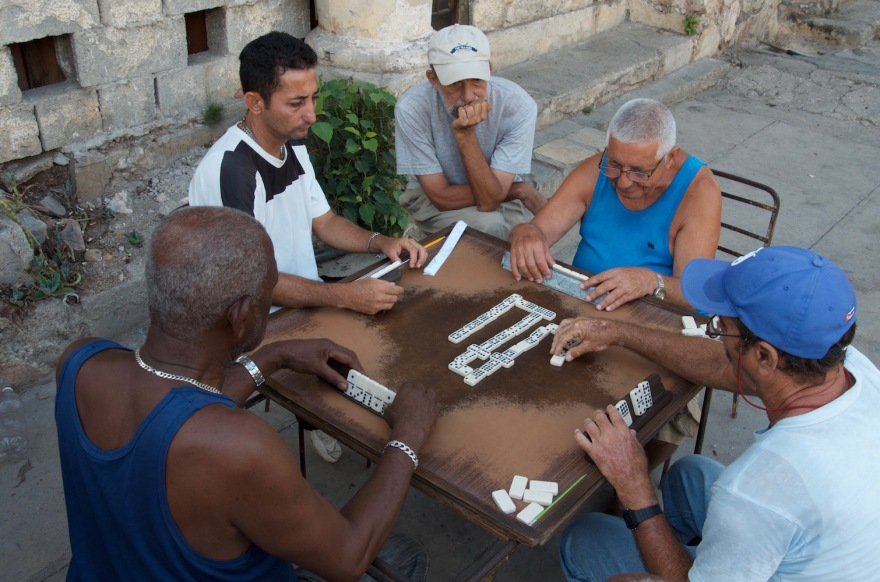 elders hang out in havana