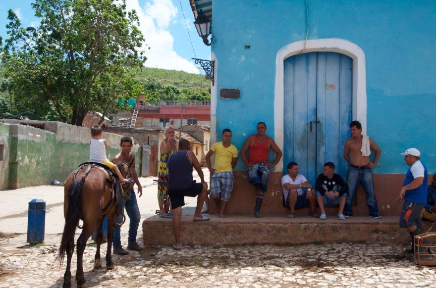 street hangout in trinidad cuba